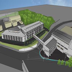 新校舎の建設状況について(写真と動画を公開中。朴沢学園のHPに移ります)